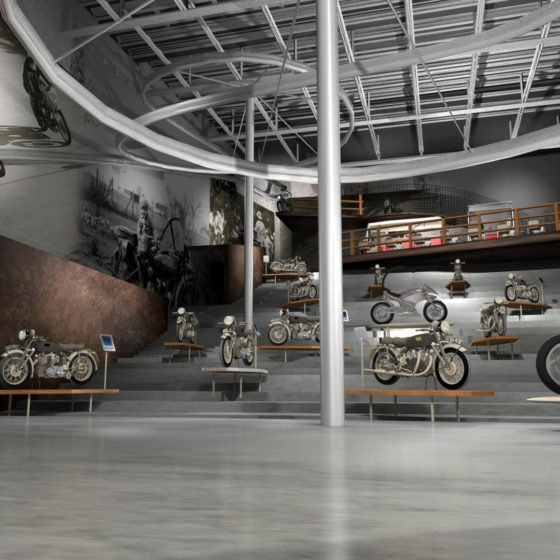 Modena Moto Museum Exhibition Design Studio Green Spirit